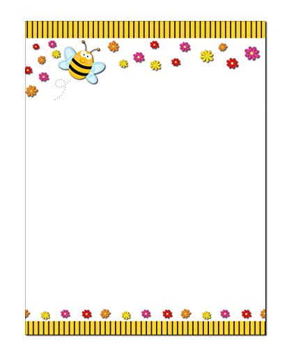 Bumble Bee Stationery - 8.5 x 11-60 Letterhead Sheets - Bee Letterhead (Bee) by Stonehouse Collection
