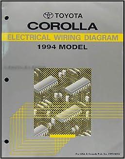 1994 toyota corolla wiring diagram manual original: toyota: amazon com:  books