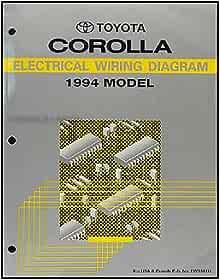 1994 Toyota Corolla Wiring Diagram Manual Original: Toyota ...