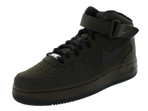 Nike Mens Air Force 1 Mid 07 Legion Bruin / Zwart Basketbalschoen 7.5 Heren Ons