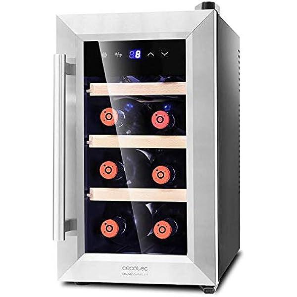 Lacor - 69178 - Armario refrigerador 8 Botellas Black Line 50w ...