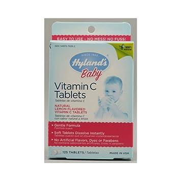 Hylands Vitamin C Tablets Natural Lemon - 25 mg - 125 Tablets Toys Baby Kids Games