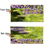 Love Animal Purple Flowers in Summer Face Mask UV