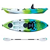 Driftsun Teton 90 Hard Shell Recreational Kayak, Single Person Sit On Top Kayak Package with EVA Padded Seat, Includes Aluminum Paddle and Fishing Rod Holder Mounts Review