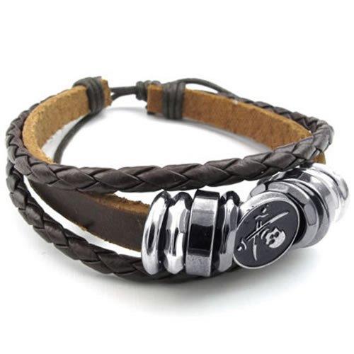 KONOV Womens Leather Bracelet Pirate