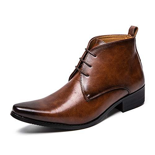 El Color Eu boots Bota Negro New Puro Estilo Estrecha De Coming Marrón 2018 Tamaño Hombres Dundun Moda Británico Superior Botas Para Tobillo Punta 41 color 8gqxvgwAn