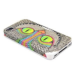Special Shining Eye Monster Pattern Hard Case for iPhone 4/4S , White