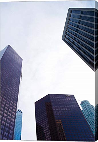 (Low Angle View of Skyscrapers, Wells Fargo Center, California Plaza, US Bank Building, Los Angeles, California, USA by Panoramic Images Canvas Art Wall Picture, Gallery Wrap, 32 x 48 inches)