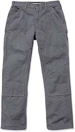 Carhartt EB136 Double Front Entrenamiento Pantalones Vaqueros Slim B01 Pantalones para Hombre Gris Gris Oscuro