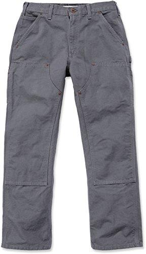 Sottile Carhartt Eb136pantaloni Dark Grey B01signor Work Jeans Double Front UzwrXU
