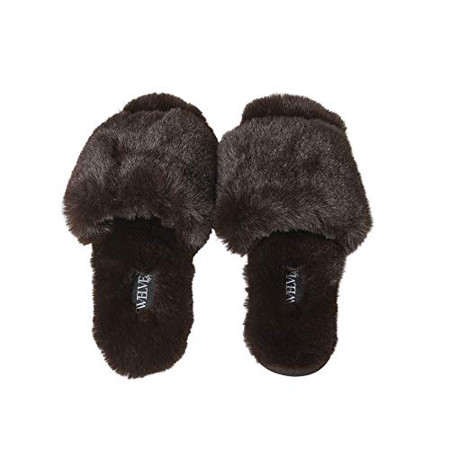 Twelve AM Co. fluffy slippers
