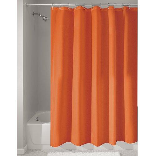 UPC 081492146476, InterDesign Mildew-Free Water-Repellent Fabric Shower Curtain, 72-Inch by 72-Inch, Orange