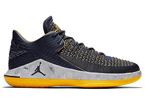 Air Jordan XXXII 32 Low Michigan Wolverines Basketball Shoes AA156-405 -