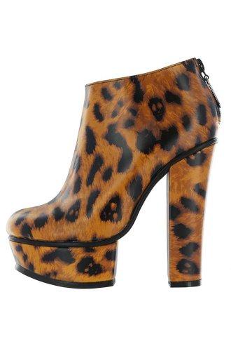 Iron Fist Change Your Spots Platform Bootie - Zapatos Mujer Amarillo - leopardo