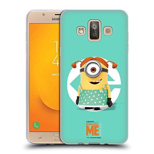 Official Despicable Me Stuart Girl Costume Minions Soft Gel Case Compatible for Samsung Galaxy J7 Duo (2018)