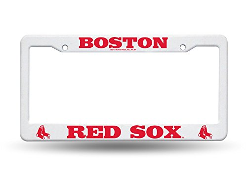 Boston Red Sox White License Plate (Boston Red Sox License Plate Frame)