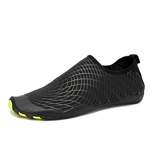 CIOR Water Shoes Men Women Aqua Shoes Barefoot Quick-Dry Swim Shoes with 14 Drainage Holes for Boating Walking Driving Lake Beach Garden Park Yoga,SYY04,w.Black,42