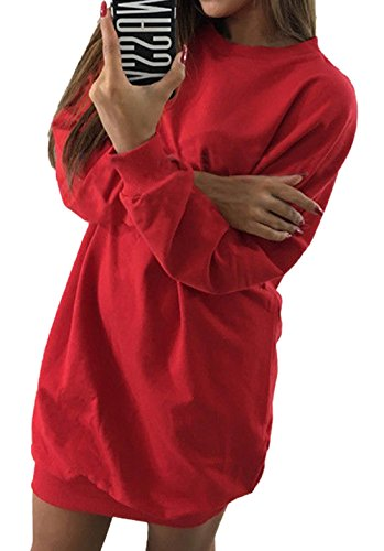 Partito Maglieria Jumper Moda Rotondo Lunga Inverno Lunga Autunno Brigata Maglione Corto Collo e Pullover Donna Vestiti Sweater Monika da Casual Felpe Manica Tunica a07qT1wnx