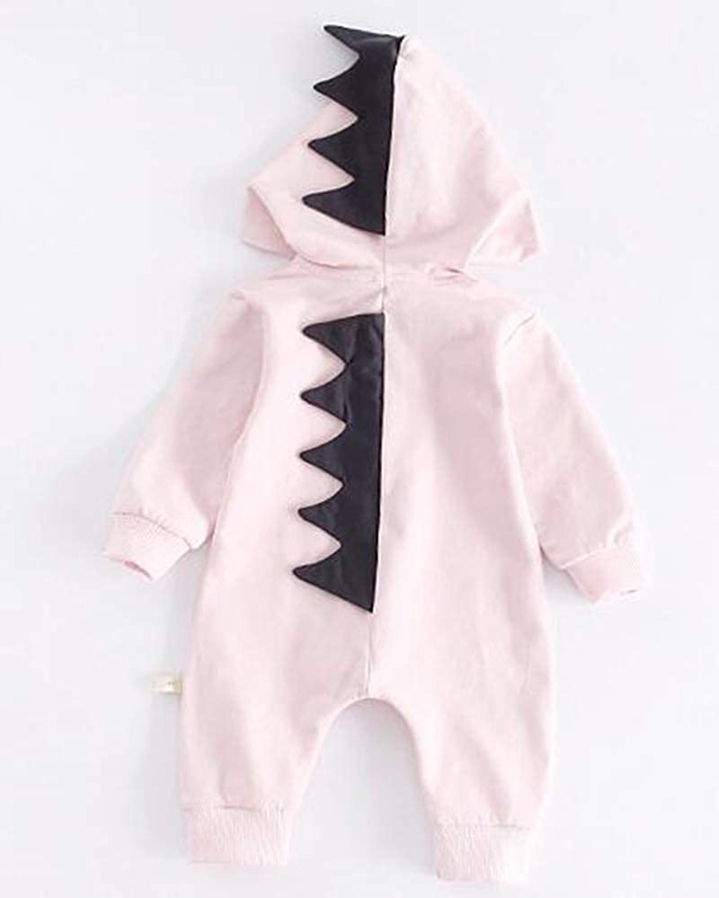 Yulain Baby Cotton Jumpsuit Baby Pajamas Unisex Solid Color Dinosaur Sleep Jumpsuit