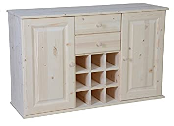 Credenza Da Dipingere : Meublepro mobile buffet da cucina in pino grezzo: amazon.it: casa e