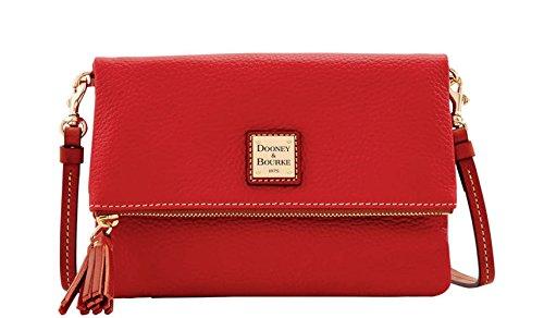 Dooney & Bourke Foldover Zip Small Crossbody (Red)