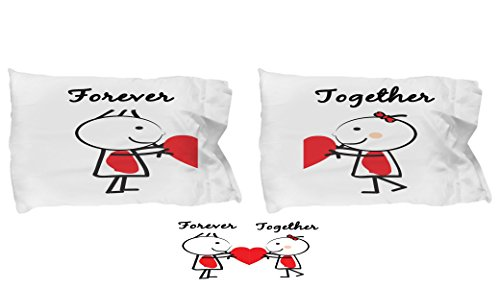 Forever Together couple love pillow case- awesome gifts for husband wife girlfriend boyfriend