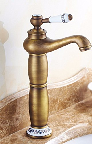 E Hlluya Professional Sink Mixer Tap Kitchen Faucet Hot and cold, bathroom, Single Hole, redate the whole copper single handle sink tap the C