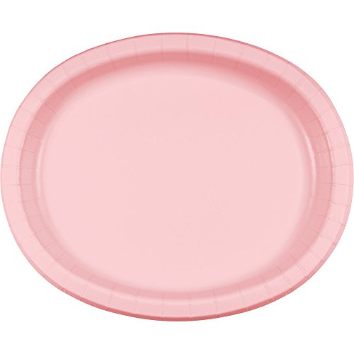 Creative Converting 96 Count Touch of Color Oval Paper Platters, Classic ()