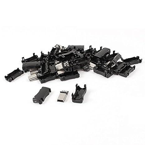 Amazon.com: eDealMax 15pcs Mini USB Adaptador de enchufe del conector DE 5 Pines Tipo B Macho w Cubierta: Electronics