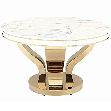 52 Round Table.Amazon Com Coaster Kendall 52 Round Marble Top Pedestal Dining