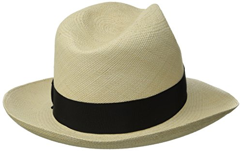 Stetson Men's Centerdent Fine Panama Hat, Natural, 7 by Stetson (Image #2)