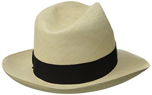 Stetson Men's Centerdent Fine Panama Hat, Natural, 7.125 by Stetson (Image #2)