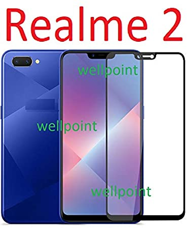 af6b69e8788 Wellpoint Realme 2 Tempered Glass for Oppo Realme 2 5d  Amazon.in   Electronics