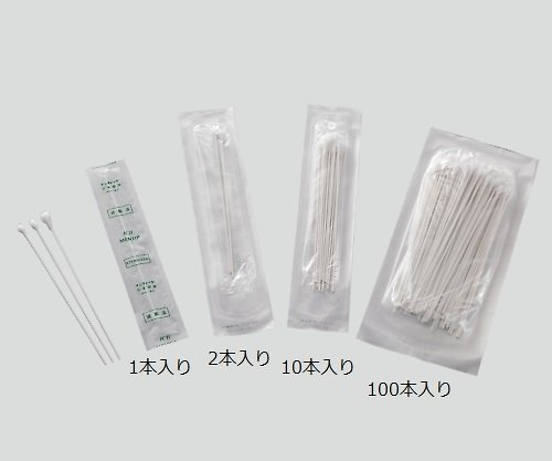 日本綿棒8-7080-04メンティップ病院用綿棒(紙軸)1箱(100本入×25袋) B07BD2JYV4