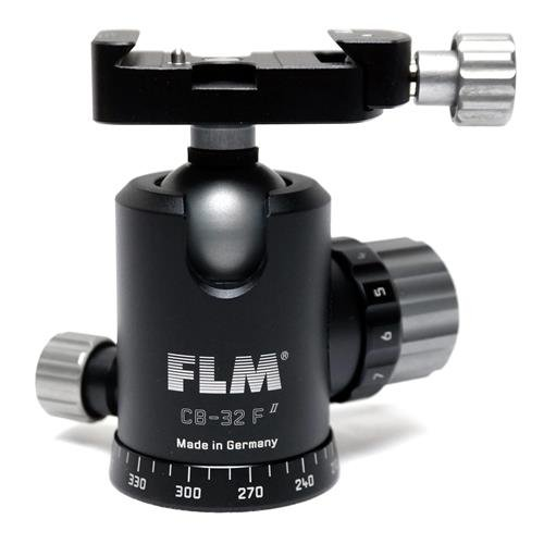 FLM CB-32 F Professional 32mm Ballhead with SRB-40 40mm Clamp Style Quick Release Base by FLM