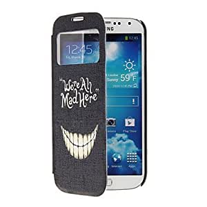 Funny Teeth Pattern Full Body Case with Window for Samsung S4