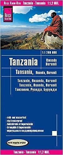 1:1.200.000 Burundi Ruanda Reise Know-How Landkarte Tansania