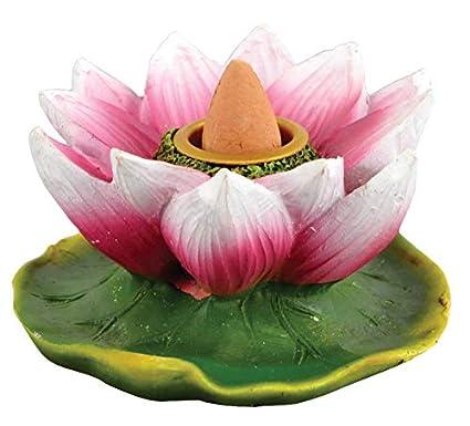 Amazoncom Fantasy Gifts Lotus Flower Backflow Incense Burner 3