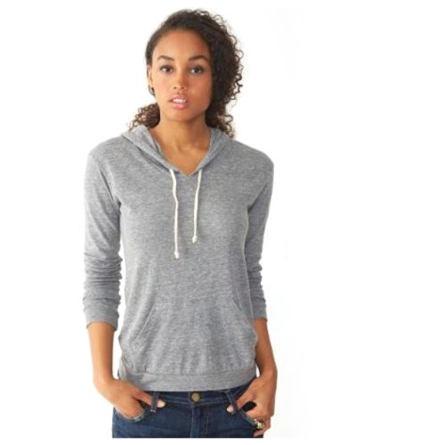 (Alternative Ladies' Classic Hooded T-Shirt 1928-Medium-Eco)