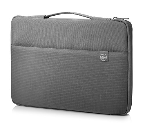 HP 1PD67AA#ABL 15-Inch Laptop Sleeve with Retractable Handle (Crosshatched Grey)