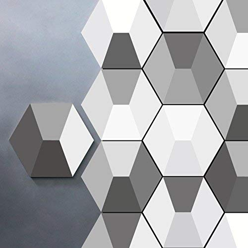 TYHON Wall Stickers Geometric Pattern Tile Decals 10pcs Blacksplash Floor Decors Home Kitchen Furniture Decorations 9x7.87inches