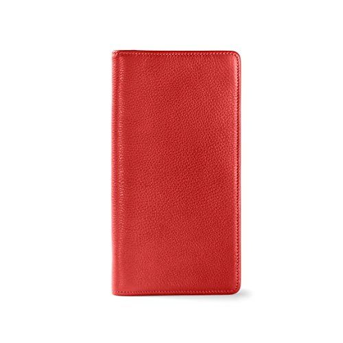 Zip Around Travel Wallet - Full Grain Leather Leather - Scarlet (red) by Leatherology