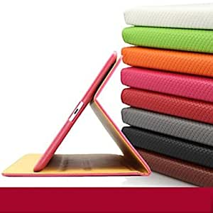 Special Design PU Leather Case with Stand for iPad2/3/4 , Orange