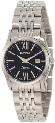 Roamer of Switzerland Women's 941561 41 53 90 Saturn Automatic Black Dial Stainless Steel Watch