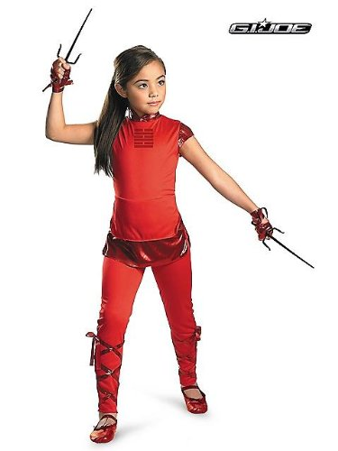 Disguise Girls GI Joe Movie Jinx Classic Costume, One Color, Small/4-6