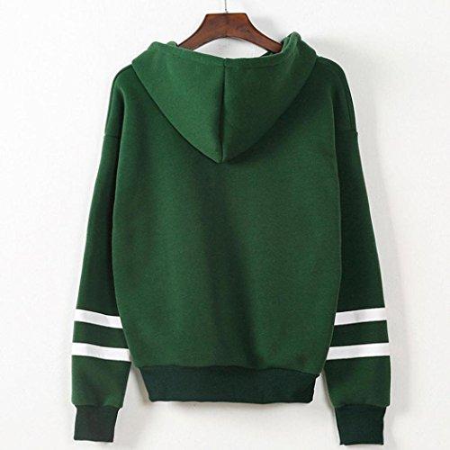 Sudadera con capucha de manga larga de las mujeres otoño 2017 Switchali Sudaderas Mujer baratas floral blusa ropa de mujer en oferta de abrigo invierno casual suelto Suéter Verde