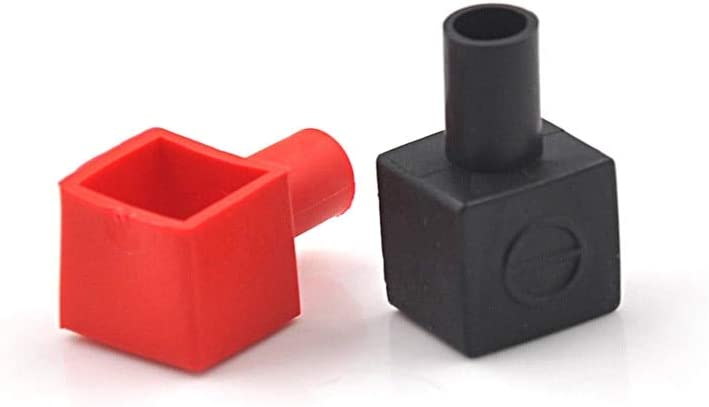 1 Pair Auto Air Battery Terminal Covers Positive And Negative Black /& Red Useful