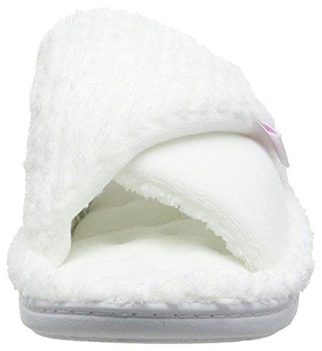 Isotoner Popcorn Tunover Slipper - Pantuflas Mujer White (White)