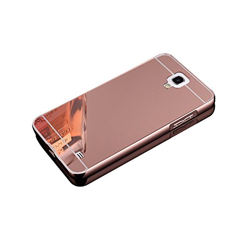 Galaxy Mega 2 Case,DAMONDY Luxury Metal Air Aluminum Bumper Detachable + Mirror Hard Back Case 2 in 1 cover Ultra-Thin Frame Case For Samsung Galaxy Mega 2 G750A G750F G7508Q(Rose)