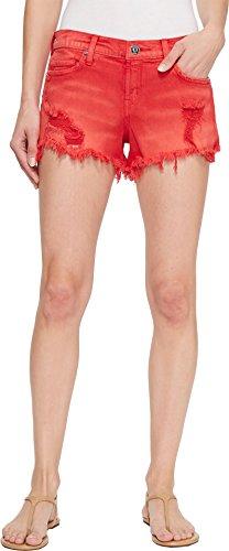 HUDSON Women's Kenzie Cut Off Jean Shorts in Red Alert Red Alert 30 3